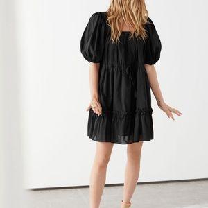& Other Stories Voluminous Puff Sleeve Mini Dress